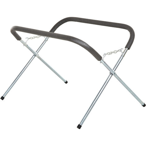 HOMCOM Heavy-Duty Steel Trestle Expandable Workshop Stand Repair w/ Cotton Top