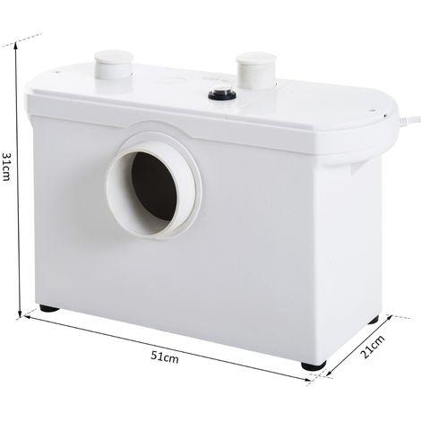 HOMCOM® Hebeanlage Abwasserpumpe für WC Dusche 600W