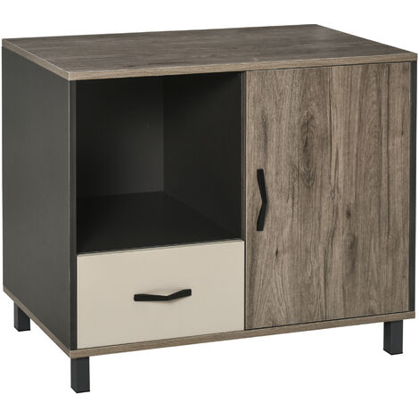 HOMCOM Home Sideboard Storage Cabinet Hallway Floor Standing Cupboard