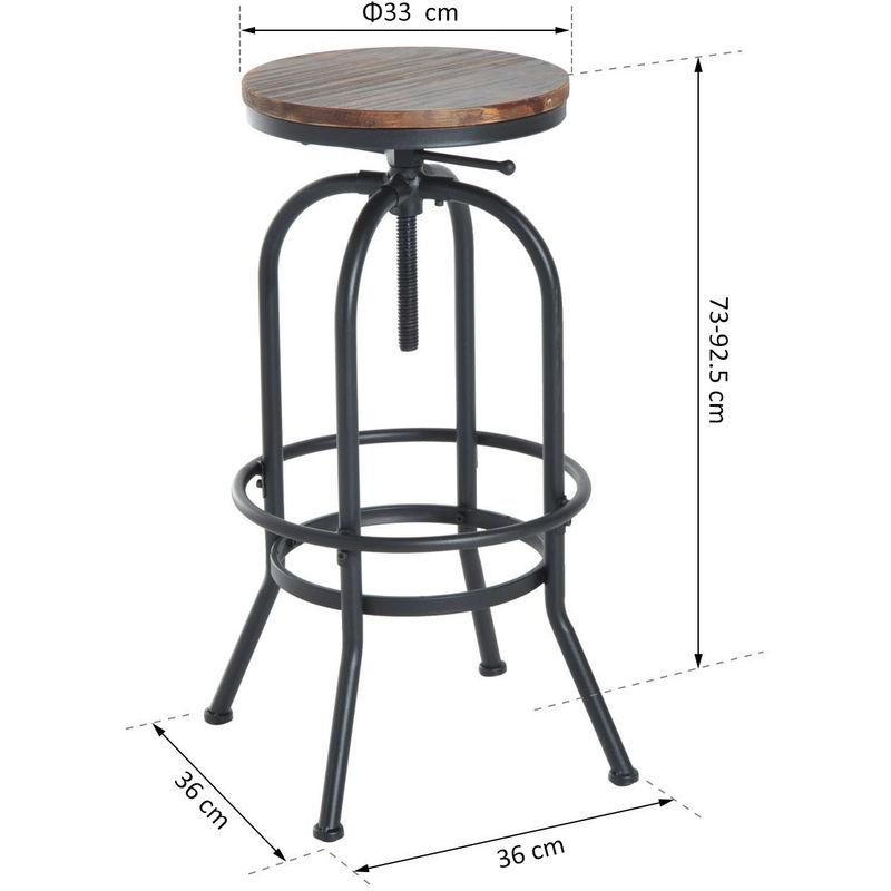Terrific Homcom Industrial Vintage Bar Stool Height Adjustable Swivel Chair Frankydiablos Diy Chair Ideas Frankydiabloscom