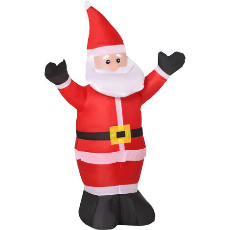 "main image of ""HOMCOM Inflatable 1.2m Santa Claus Xmas Decoration Lawn Yard Decor Airblown Light up"""
