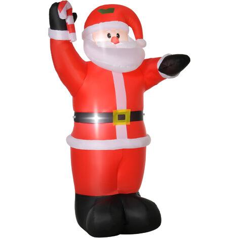 "main image of ""Homcom Inflatable Air Blown Christmas Santa Claus 240cm LED Lighted Decoration"""