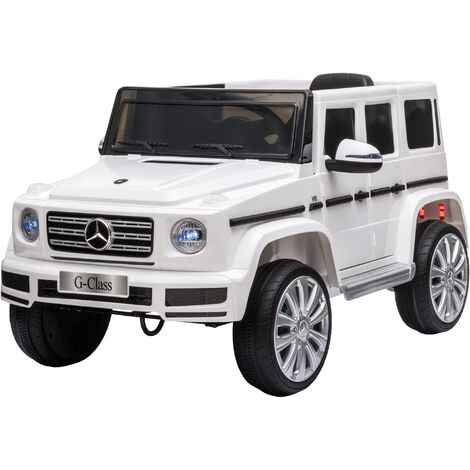 HOMCOM Kids 12V Mercedes Benz G500 Electric Ride On Car 3-8 Yrs White