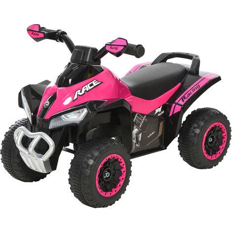 HOMCOM Kids 4 Wheel Ride-On Toy Foot-to-Floor Walking Car 18-36 Months Pink