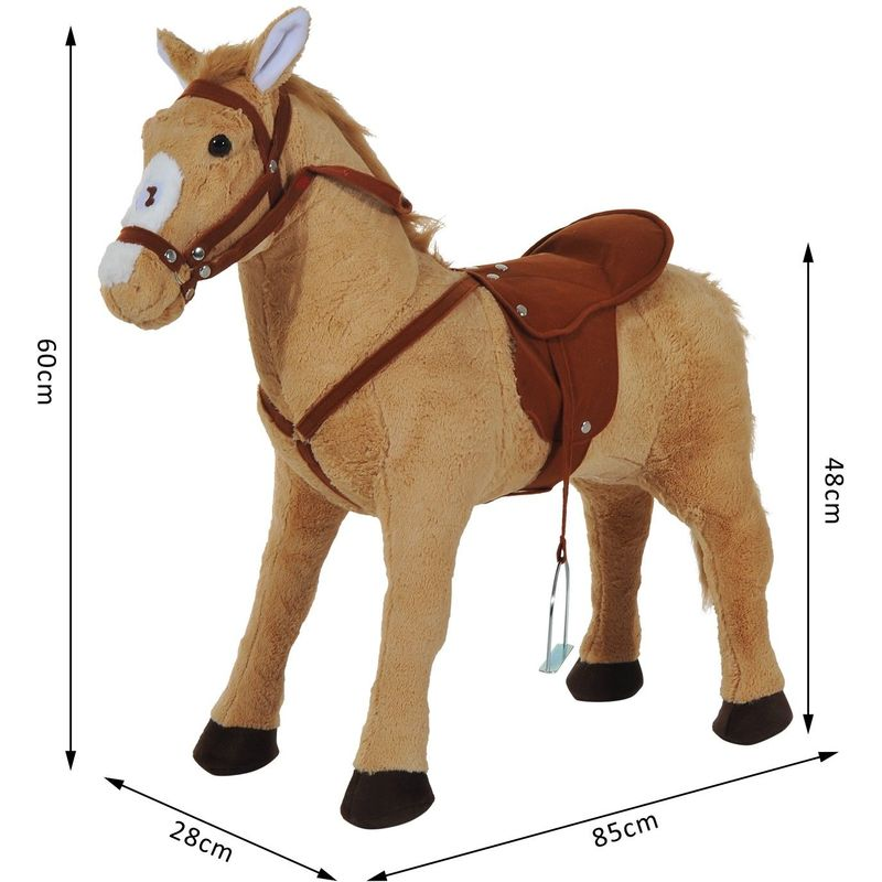 Homcom Kids Cuddly Toy Standing Horse