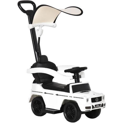 HOMCOM Kids Mercedes-Benz G350 Ride-On Sliding Car Walker w/ Storage White