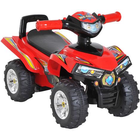 HOMCOM® Kinder-Quad mit Musik Rutscherauto Geländewagen Rutscherfahrzeug Rot