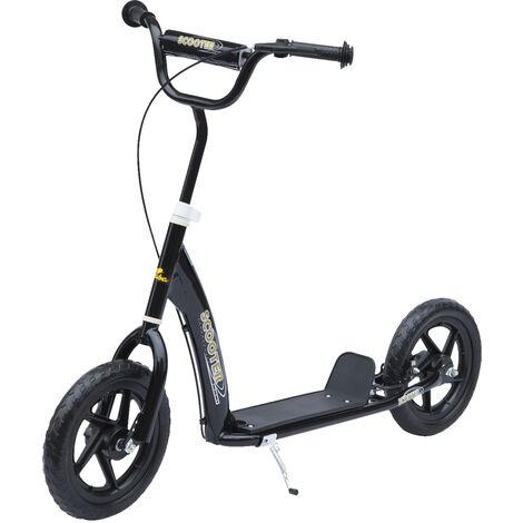 HOMCOM® Kinderroller Scooter Tretroller Cityroller 12 Zoll Schwarz