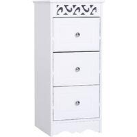 HOMCOM® Küchenschrank | Aktenschrank | MDF | 29,8 x 29,8 x 68,5 cm | Weiß