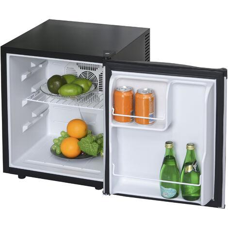HOMCOM® Kühlschrank Mini-Bar freistehend Getränke 50 Liter 3 Ebenen Schwarz+Silber