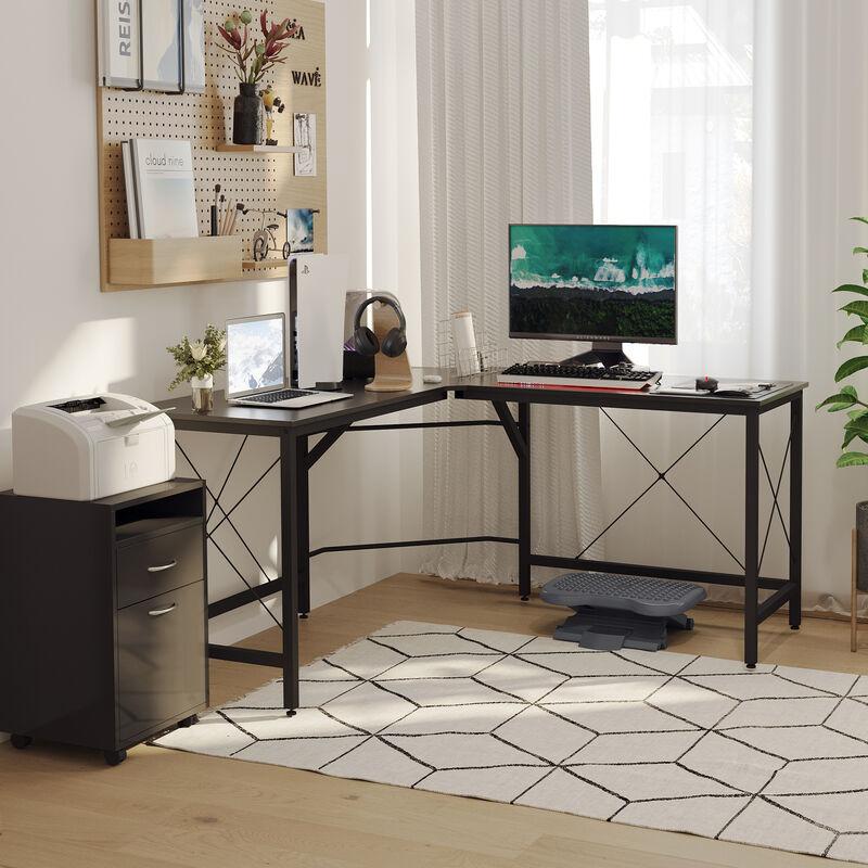 Homcom L Shape Corner Gaming Work Desk