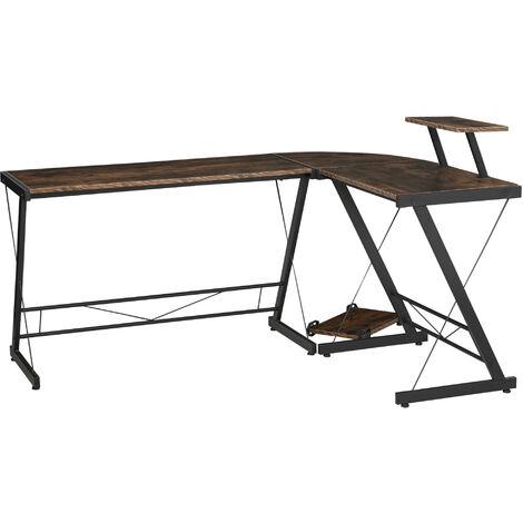 """main image of """"HOMCOM L Shaped Desk Corner Computer Gaming Table Workstation w/ Shelf"""""""