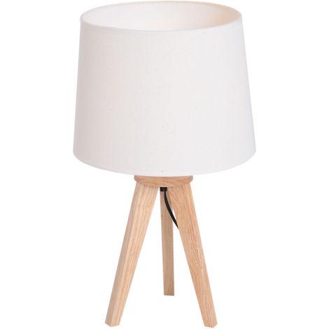 homcom Lampada da Comodino Tavolo Camera da Letto Supporto ...
