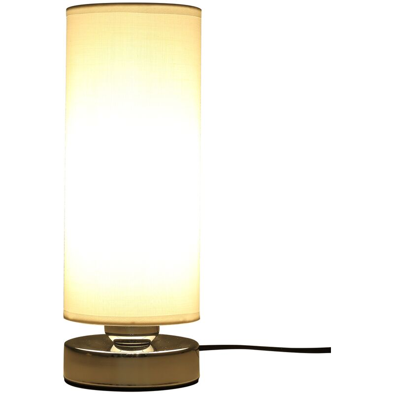 Lampada da Tavolo con Intensità della Luce Regolabile Tecnologia Touch Compatibile Lampadine E27 - Homcom