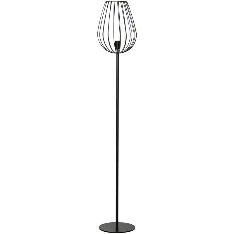 HOMCOM Lampada da Terra Design Industriale, Paralume in Metallo, Casa e Ufficio