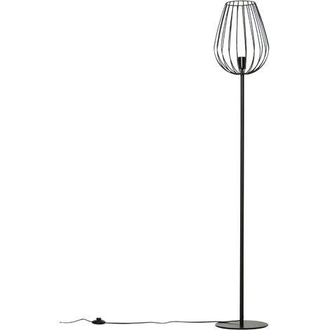 HOMCOM Lámpara de Pie Moderna con Base de Metal para Salón y Dormitorio Altura 159cm - Negro