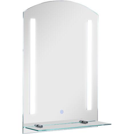 HOMCOM® LED Licht-Badspiegel   Wandspiegel   50 x 4 x 70 cm