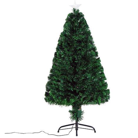 HOMCOM® LED-Weihnachtsbaum | Kunsttanne | Ø 60 x 120 cm | Grün