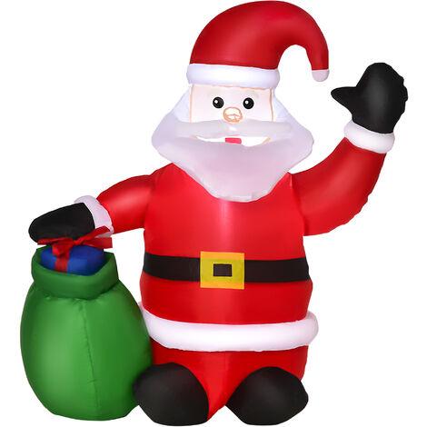 LED Santa Claus Figur aus Acryl 60 LEDs IP 44 für den innen und außenbereich