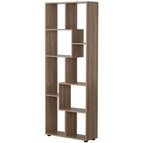 """main image of """"Homcom Libreria in Legno Design Moderno con 8 Ripiani Color Legno Naturale 70x24x178cm"""""""