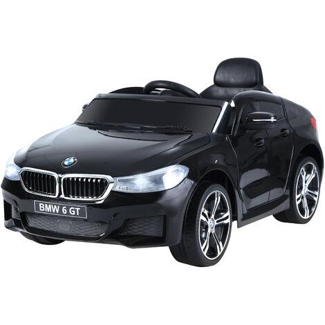 HOMCOM Licensed BMW 6GT 6V Kids Ride On Car Battery MP3 Music Lights Remote