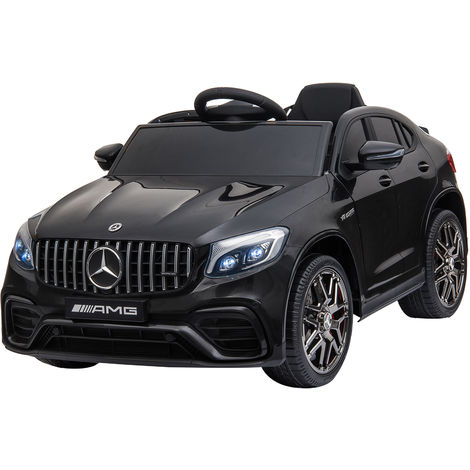 HOMCOM Licensed Mercedes-Benz 12V Ride On Car w/ Seat Belt Remote Black
