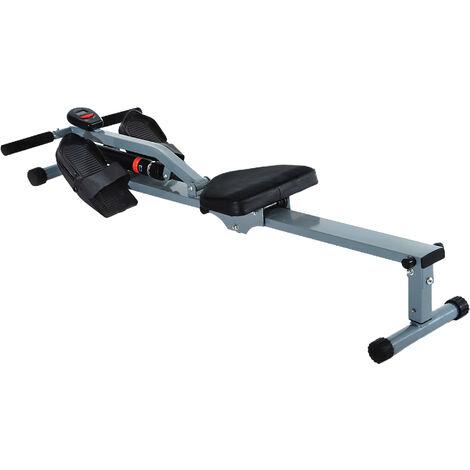 HOMCOM Máquina de Remo Fitness Deporte Entrenamiento Cardio para Gimnasio en Casa