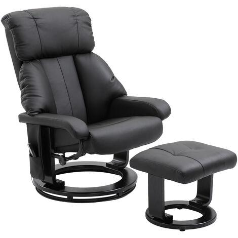 HOMCOM® Massagesessel mit Wärmefunktion | Hocker | 10 Vibrationspunkte | 76 x 80 x 102 cm | Schwarz