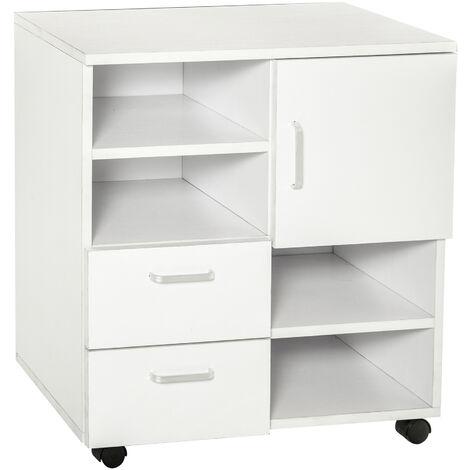 3fa56633e HOMCOM Mesa armario movil mueble tv madera cajones y puerta consola comedor  cajonera