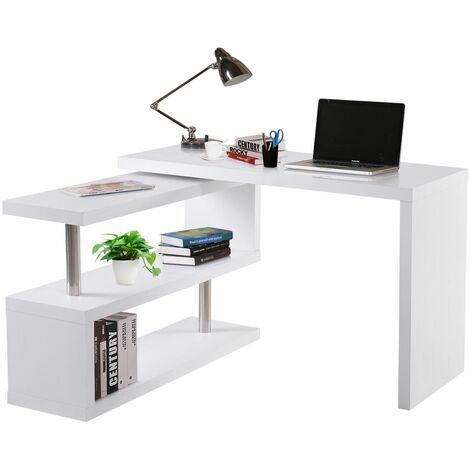 HOMCOM Mesa Ordenador PC 187.5x50x76.1cm Escritorio Oficina Despacho Escuela Estantería