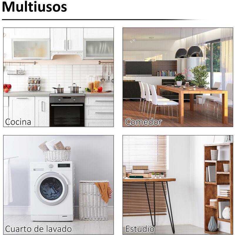 Mesa Blancomaderablanco Plegable Comedor Para 60x40x1 Color Homcom Auxiliar Pared Cocina Y 5cm De wN8n0m