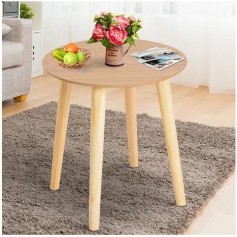 Homcom® mesa redonda de cocina comedor mesa centro mesa de ...