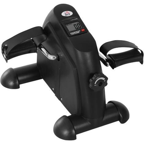 HOMCOM Mini Manual Exercise Bike Portable Pedal Arms Legs Exercise w/ LCD Display Black