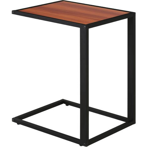 Homcom Modern Coffee Side Table C-shape Desk
