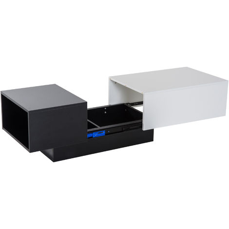 Homcom Modern Coffee Table Storage Unit Living Room With