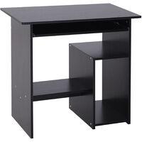 HOMCOM Modern Compact Computer Desk Keyboard Tray Storage Corner Home Office