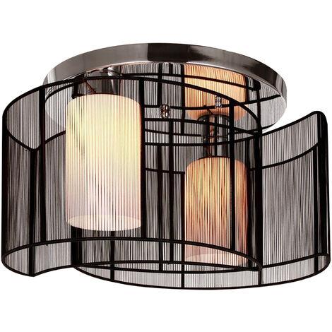 Homcom Modern Design Mini Style Flush Mount Ceiling Light with Metal Finish Chandelier - Black