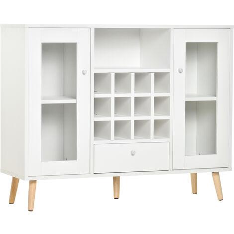 "main image of ""HOMCOM Modern Sideboard Storage Cabinet Kitchen Cupboard w/ 12-Bottle Wine Rack"""