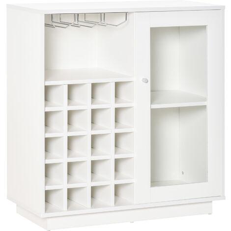 "main image of ""HOMCOM Modern Sideboard Wine Cabinet Cupboard w/ Glass Door 20-Bottle Wine Rack"""