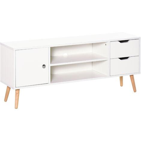 HOMCOM Modern TV Stand w/ Storage Shelf Media Console Table Home Entertainment