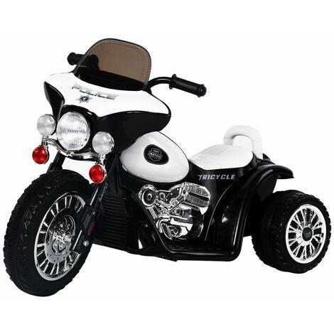 HOMCOM Moto Eléctrica Infantil Coche Triciclo Correpasillos a Batería Niños 18-36 meses