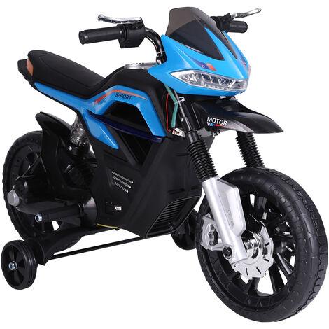 HOMCOM Moto Eléctrica Infantil Moto de Juguete Niños 3-8 años 6V con Luces y Música