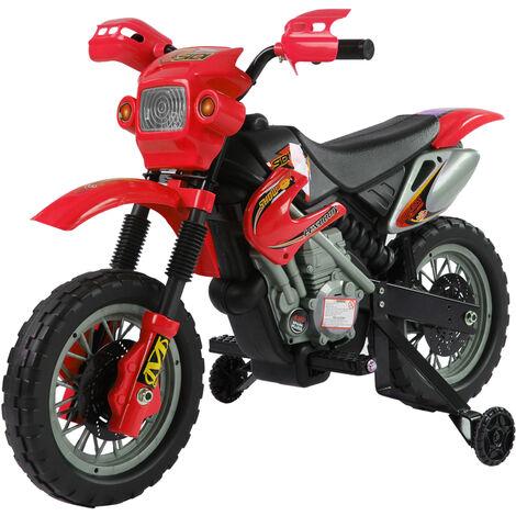 HOMCOM Moto Eléctrica para Niño 3-6 Años Batería 6V con Cargador 102x53x66cm