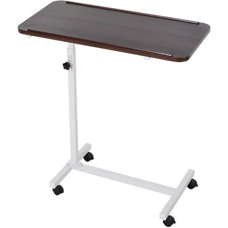 Homcom Multipurpose Mobile Overbed Chair Table Sofa Side Laptop Desk Pc Stand
