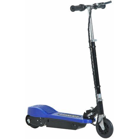 HOMCOM Patinete Eléctrico Niño Scooter Plegable Asiento Ajustable Carga 50kg Azul