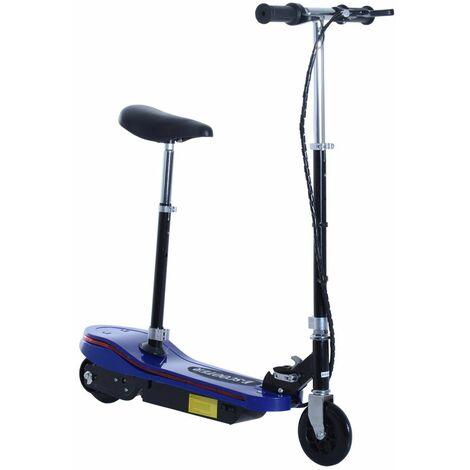 HOMCOM Patinete Plegable para Niño Luz LED Scooter Eléctrico con Manillar Carga 50kg