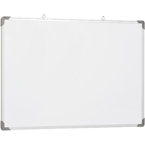 """main image of """"HOMCOM Pizarra Magnetica Blanca 60x90cm + 10 Imanes + 4 Rotuladores + 1 Borrador - Blanco"""""""
