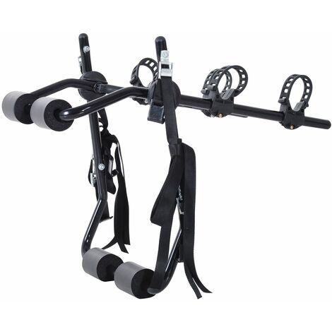 HOMCOM Portabicicletas para Coche Capacidad 2 Bicicletas Máximo 30 kg 75x60x10cm - Negro