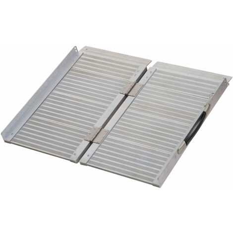 """main image of """"Homcom Portable Folding Aluminum Ramp with Carry Handle for Wheelchair Pet"""""""