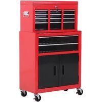 Homcom Portable Toolbox Tool Chest Box Roll Cab Cabinet Garage Storage